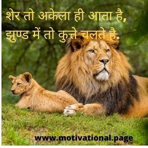 Lion Whatsapp status in hindi