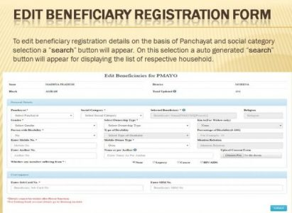 Pradhan Mantri Gramin Awas Yojana Application Form