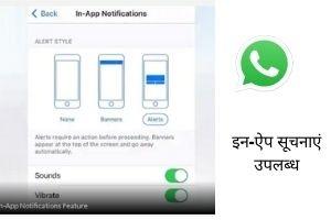 iwhatsapp n app notification in apple devices hindi