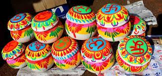 File:9 colourful gift pots for Makar Sankranti January festival.jpg -  Wikimedia Commons