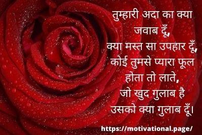 हैप्पी रोज डे शायरी इन हिंदी, रोज डे की शायरीRose Day Shayari in hindi- For Girlfriend